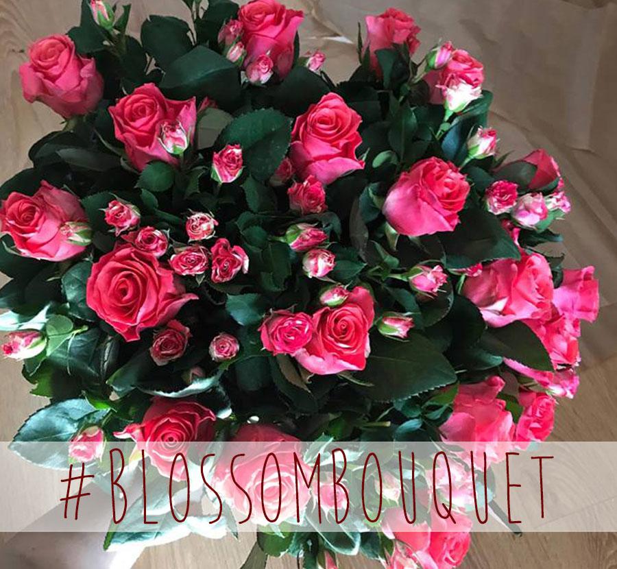 """Rausvų rožių puokštė """"Rožių ansamblis"""""""